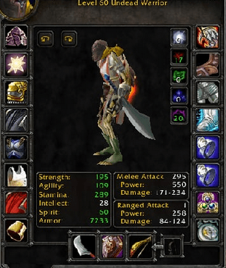 Undead male Warrior 60