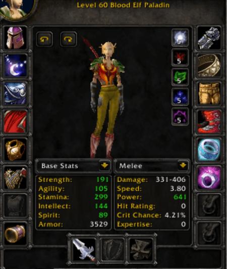 Blood Elf female Paladin 60
