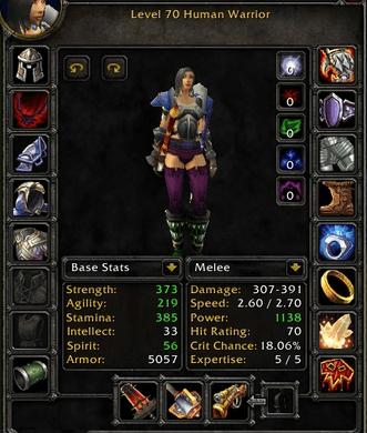 Human female Warrior 70