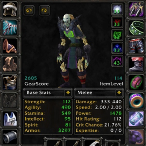 Undead male Rogue 70